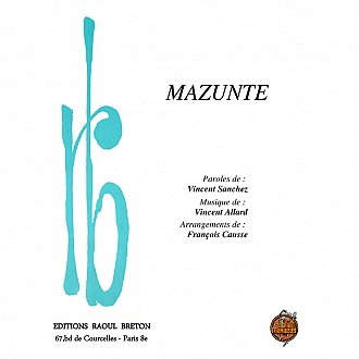 Mazunte - Partition piano-chant