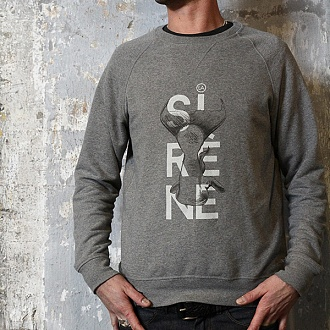 "Sweat ""SIRENE"" gris chiné"
