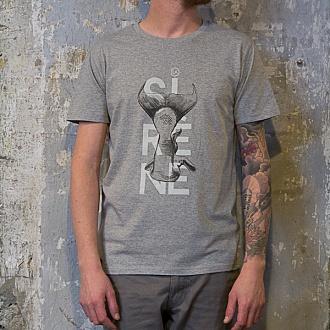 "Tee-shirt ""LA SIRENE"" Gris chiné"