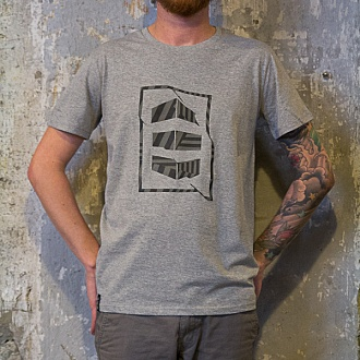 "Tee-shirt ""BLOCK"" Gris chiné"