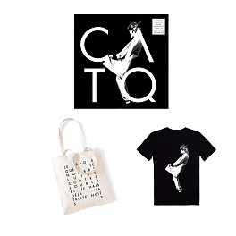 "Pack Black & White : EP vinyle + Cd + tee shirt ""Christine"" + sac blanc"