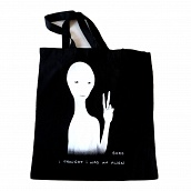 Black Tote Bag - Glow Ink
