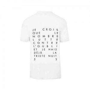 """Tee shirt """"Lyrics"""" Blanc"""