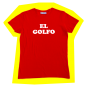 T-shirt El Golfo Rouge - femme